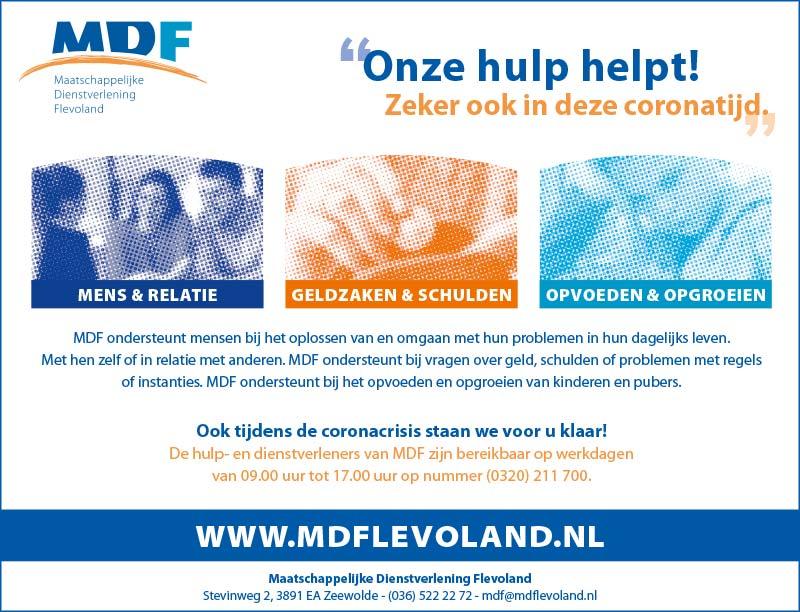 MDF advertentie